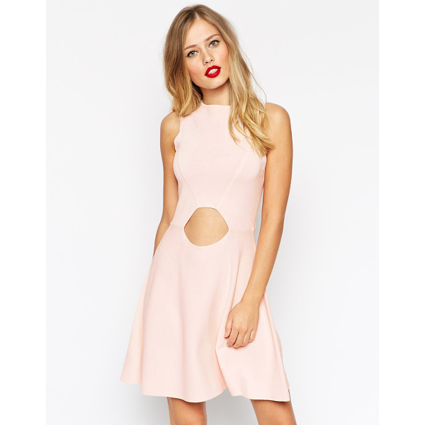 ASOS Skater Dress In Structured Knit With Cut Outs - Knit dress by ASOS Collection, Mid-weight structured knit,...