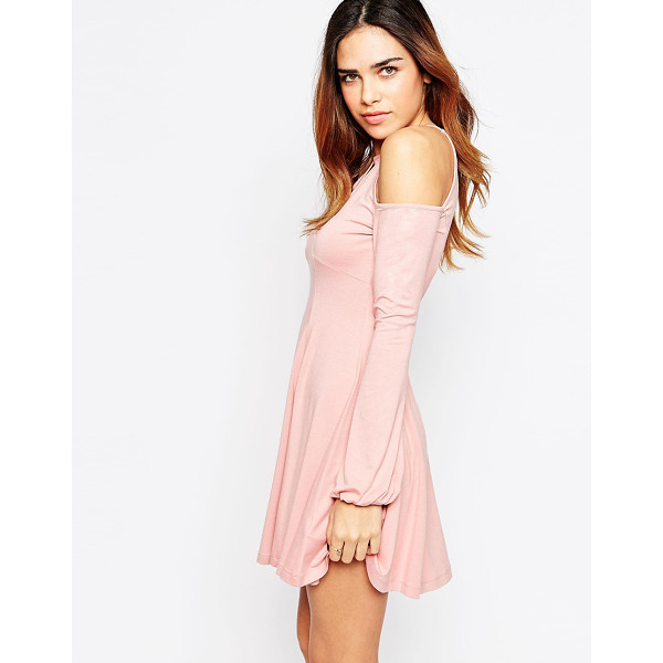 ASOS Skater dress with cold shoulder and keyhole cutout - Dress by ASOS Collection Mid-weight stretch jersey High...