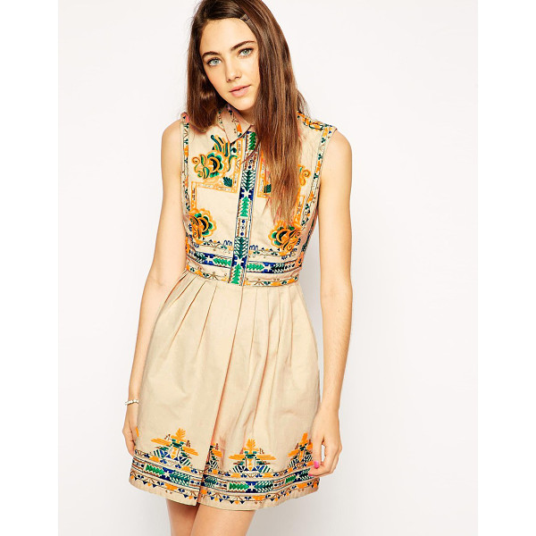 ASOS Skater dress with embroidery - Skater dress by ASOS Collection 100% Cotton Breathable...