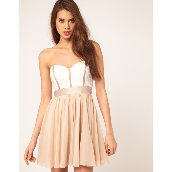 ASOS Skater dress with lace bustier - Lace bustier skater dress by ASOS Collection. Featuring a...