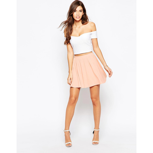 ASOS Skater Skirt in Jersey - Skirt by ASOS Collection, Stretch jersey, Elasticated...