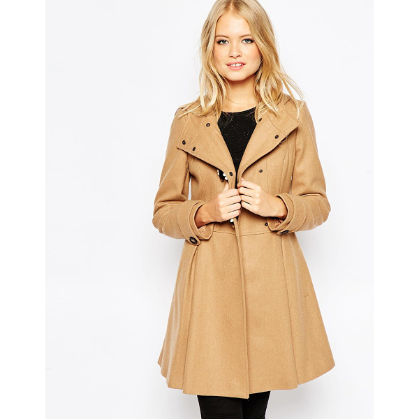 ASOS Skirted duffle coat - Coat by ASOS Collection Heavyweight wool-rich fabric Fully...