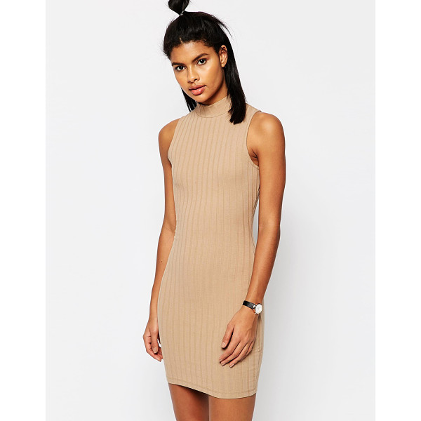 ASOS Sleeveless Chunky Rib Bodycon Dress - Body-Conscious dress by ASOS Collection, Stretch jersey,...