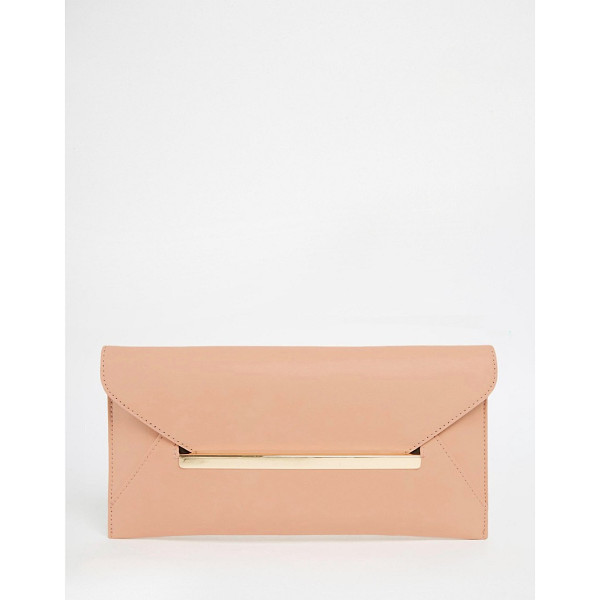 ASOS Slot Through Bar Clutch Bag - Clutch bag by ASOS Collection, Smooth leather-look fabric,...