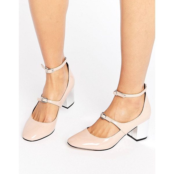 ASOS SNAPSHOT Block Heels - Heels by ASOS Collection, Faux leather upper, High-shine