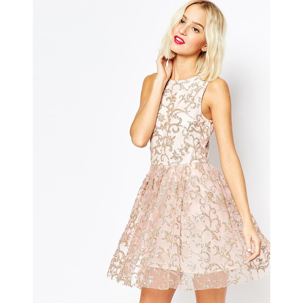 ASOS Sparkle mesh glitter mini prom dress - Party dress by ASOS Collection Woven fabric Mesh overlay...