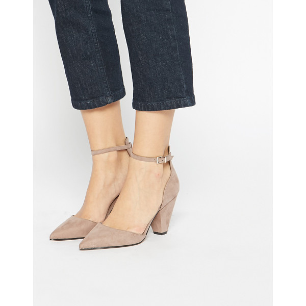 ASOS Speechless pointed heels - Heels by ASOS Collection Suede-style upper Pin buckle ankle...