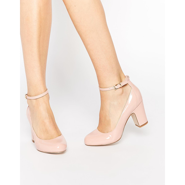 ASOS Stamp heels - Heels by ASOS Collection Polished leather Pin buckle strap...