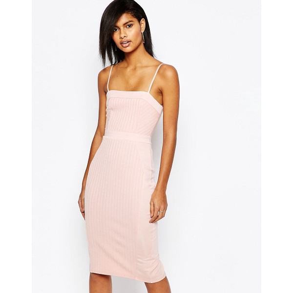 ASOS Strappy bandage midi pencil dress - Dress by ASOS Collection, Stretch ribbed knit, Lined top,...