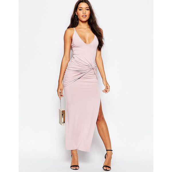 ASOS Strappy knot maxi dress - Maxi dress by ASOS Collection, Slinky stretch fabric, Deep...