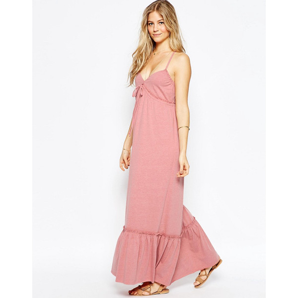 ASOS Strappy Tiered Maxi Dress - Maxi dress by ASOS Collection, Soft-touch jersey, Deep...