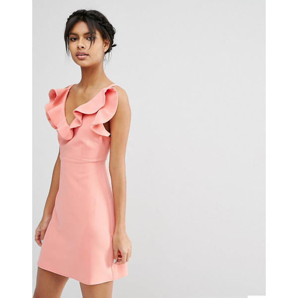 ASOS Structured frill a-line mini dress - Dress by ASOS Collection Woven fabric Fully lined...