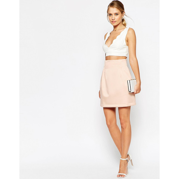 ASOS Structured Lantern Skirt - Skirt by ASOS Collection, Thick, satin-feel woven fabric,...
