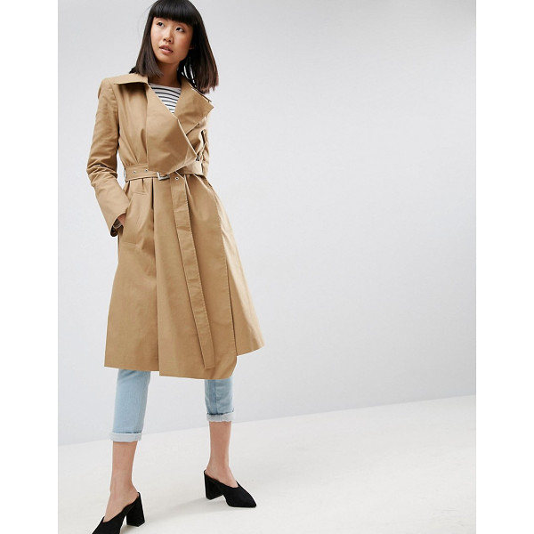 """ASOS Structured Trench Coat - """"""""Trench by ASOS Collection, Smooth woven twill, Midweight..."""
