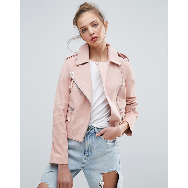 ASOS Suede Biker Jacket - Leather jacket by ASOS Collection, Soft-touch suede, Fully...