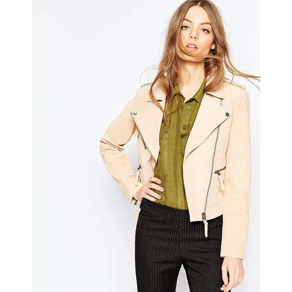 ASOS Suede Biker Jacket - Jacket by ASOS Collection, Suede leather, Fully lined,...