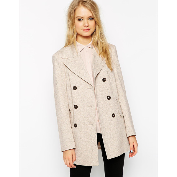 ASOS Summer pea coat in texture - Coat by ASOS Collection Mid-weight, lined jersey Thick...