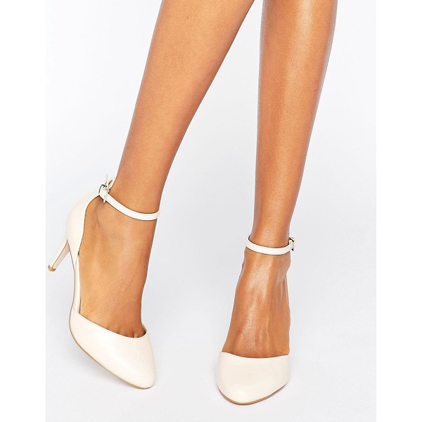 ASOS SWALLOW Heels - Heels by ASOS Collection, Faux-leather upper, Ankle-strap