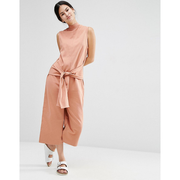 """ASOS Sweat Jumpsuit with Tie Front - """"""""Jumpsuit by ASOS Collection, Soft-touch knitted fabric,..."""