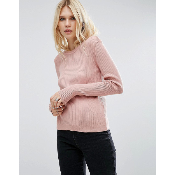 ASOS Sweater In Rib With Crew Neck - Sweater by ASOS Collection, Ribbed knit, Crew neckline,...