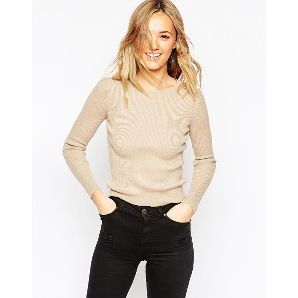 ASOS Sweater in rib with crew neck - Sweater by ASOS Collection Cotton-rich knit Ribbed texture...