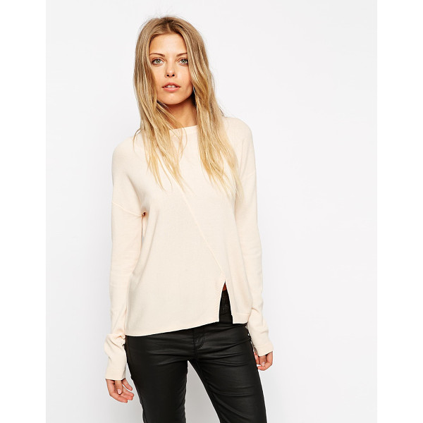 ASOS Sweater in structured knit with seam detail - Sweater by ASOS Collection Fine structured knit Crew...