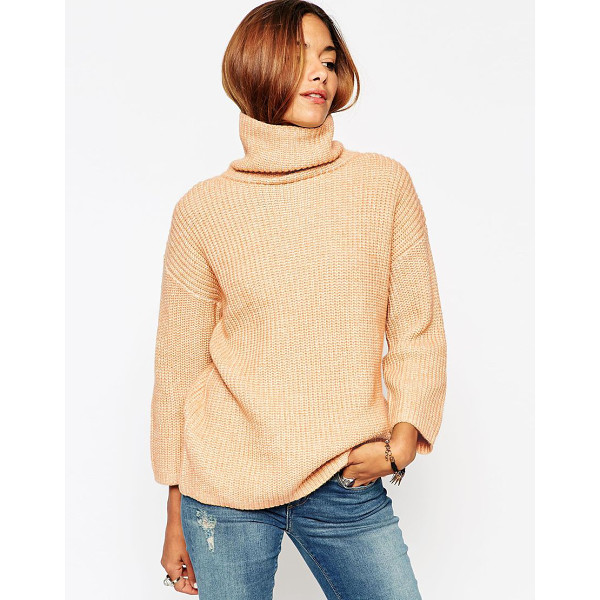 ASOS Sweater with funnel neck and wide sleeve - Sweater by ASOS Collection Mid-weight knit Soft-touch knit...
