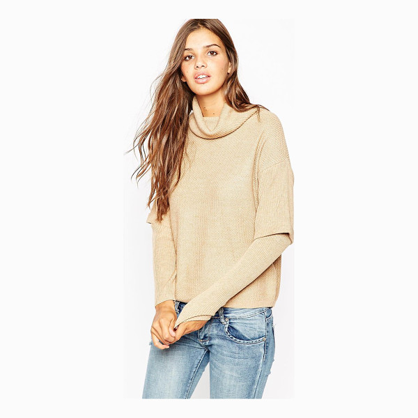 ASOS Sweater with high neck and double layer - Sweater by ASOS Collection, Knitted fabric, Double layered...