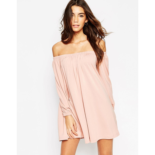 ASOS Swing dress with off shoulder gypsy detail - Dress by ASOS Collection Heavyweight stretch jersey Stretch...