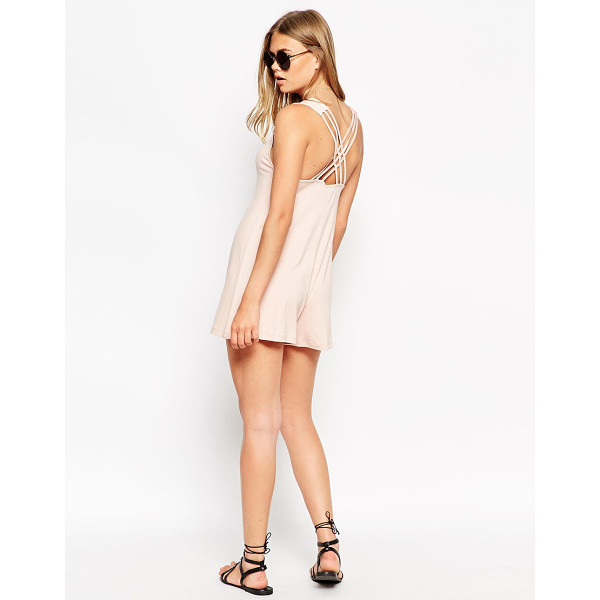 ASOS Swing romper with lattice back detail - Romper by ASOS Collection Lightweight jersey Deep...