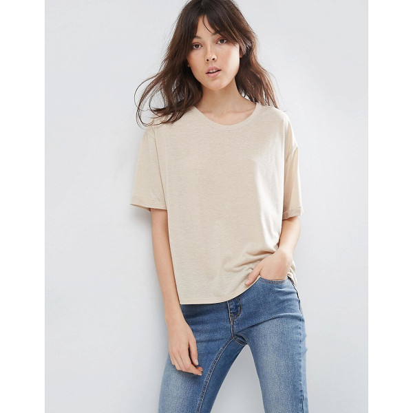 ASOS T-Shirt In Linen Mix Fabric - T-shirt by ASOS Collection, Linen-mix fabric, Crew...