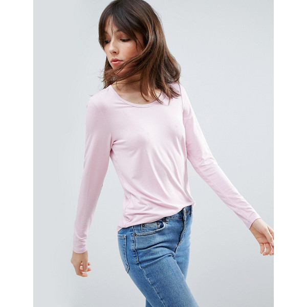 ASOS T-Shirt With Long Sleeve and Scoop Neck - Top by ASOS Collection, Soft-touch jersey, Scoop neck, Long...