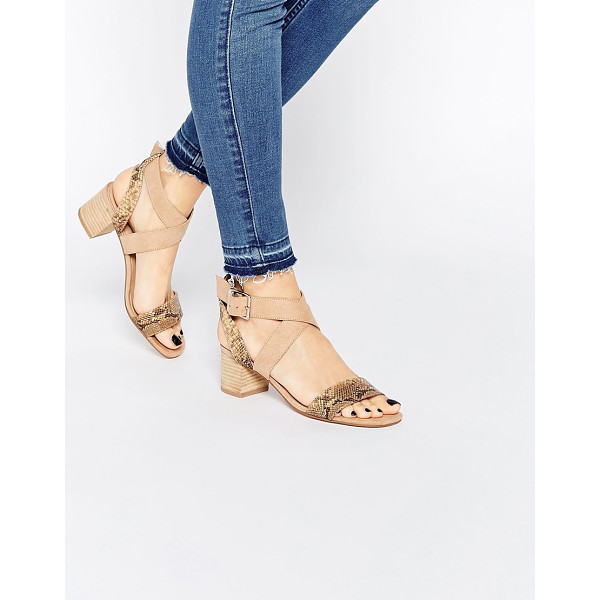 ASOS Tea time kitten heel sandals - Sandals by ASOS Collection, Faux-suede upper,...