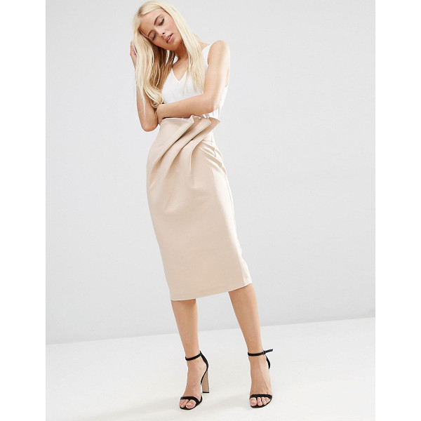 ASOS Textured Pencil Skirt with Paperbag Waist - Pencil skirt by ASOS Collection, Woven fabric, High-rise...