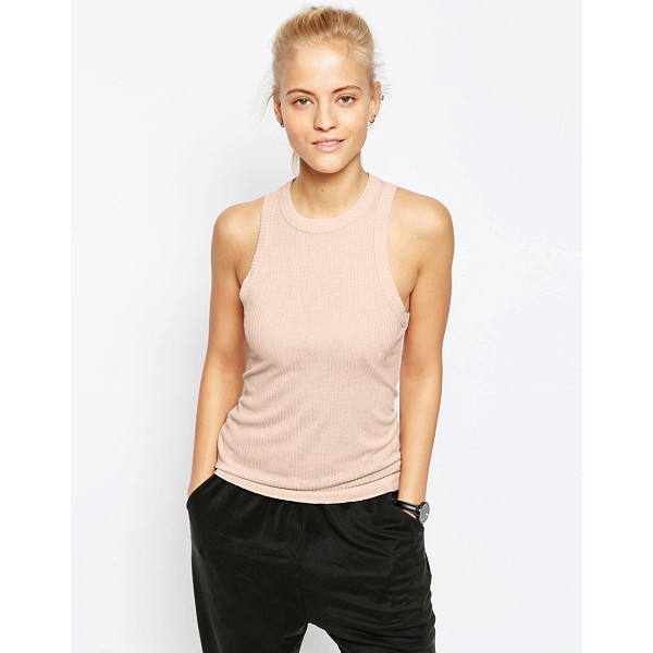 ASOS The fancy rib tank - Tank by ASOS Collection, Ribbed jersey, Crew neckline,...