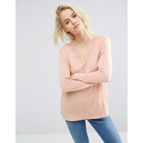 ASOS The New Forever T-Shirt with Long Sleeves and Dip Back - T-shirt by ASOS Collection, Lightweight jersey, Deep...