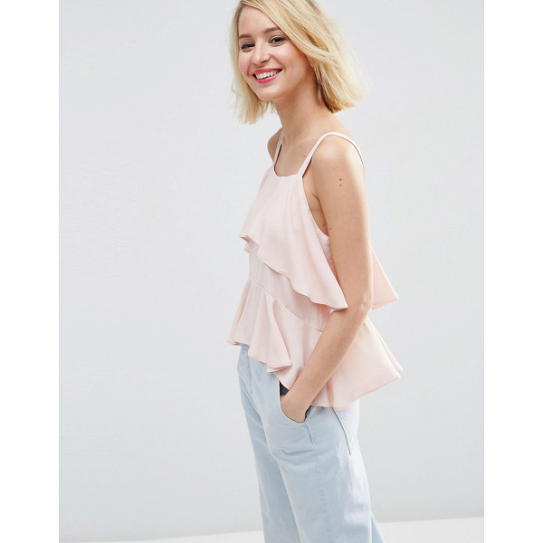 ASOS Tiered Cami - Top by ASOS Collection, Lightweight chiffon, Square...