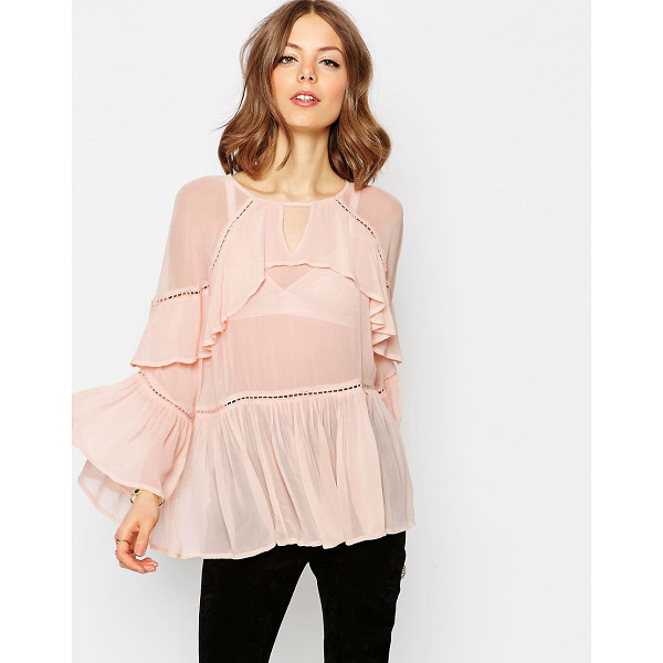 ASOS Tiered ruffle blouse - Blouse by ASOS Collection Semi-sheer woven fabric High...