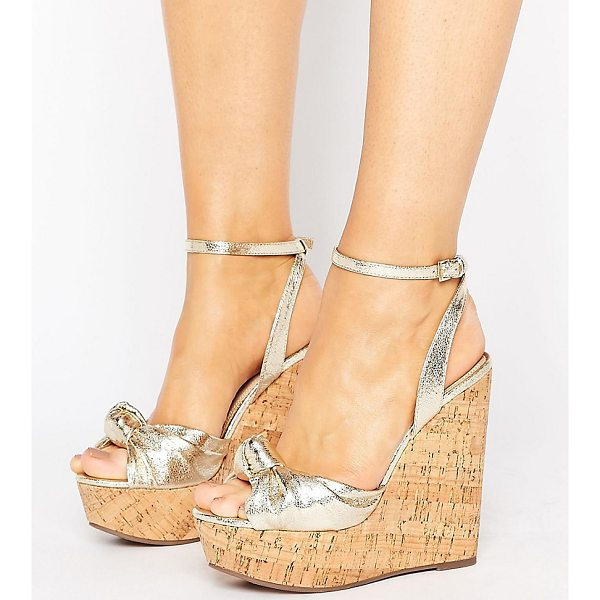 ASOS TRAFFIC JAM Wide Fit Wedges - Wedges by ASOS Collection, Metallic faux-leather upper,...