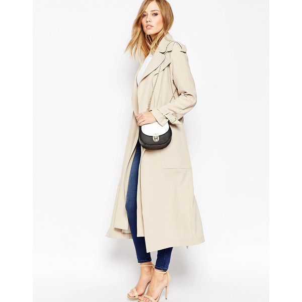 ASOS Trench with Double Layer Detail - Trench by ASOS Collection, Lined woven fabric, Midweight...