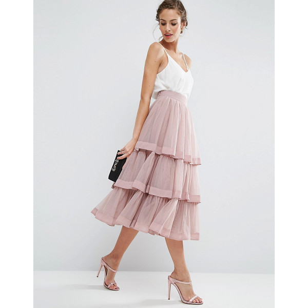 ASOS Tulle Prom Skirt with Multi Layer and Trim - Skirt by ASOS Collection, Layered tulle, Fully lined,...