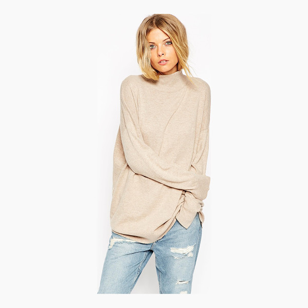 ASOS Tunic with high neck in cashmere blend - Sweater by ASOS Collection Cashmere-mix Super soft,...