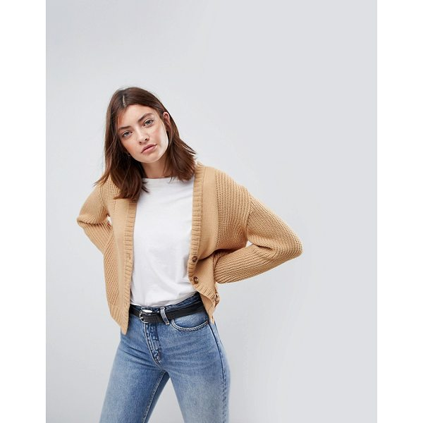 ASOS Ultimate Chunky Knit Cardigan With Button - Cardigan by ASOS Collection, Plain design, Goes with...
