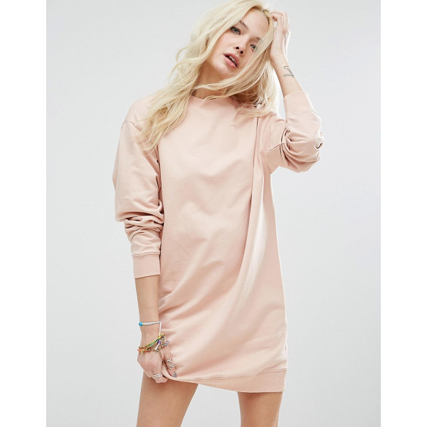 ASOS Ultimate Oversized Sweat Dress - Dress by ASOS Collection, Soft-touch sweat, Crew neck,...