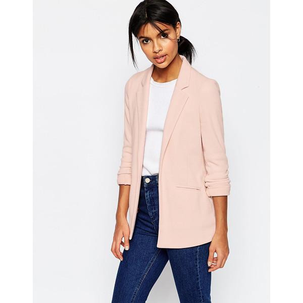 ASOS Ultimate Ponte Blazer - Blazer by ASOS Collection, Woven ponte, Fully lined, Notch...