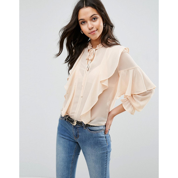 "ASOS Ultimate Ruffle Blouse With Tie Neck - """"Blouse by ASOS Collection, Semi-sheer woven fabric,..."