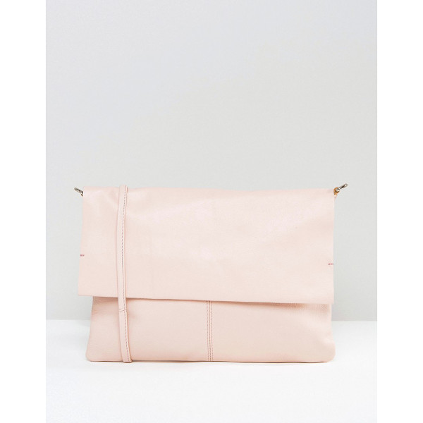 ASOS Unlined Soft Leather Cross Body Bag With Detachable Strap - Bag by ASOS Collection, Leather outer, Body strap, Flap-top...