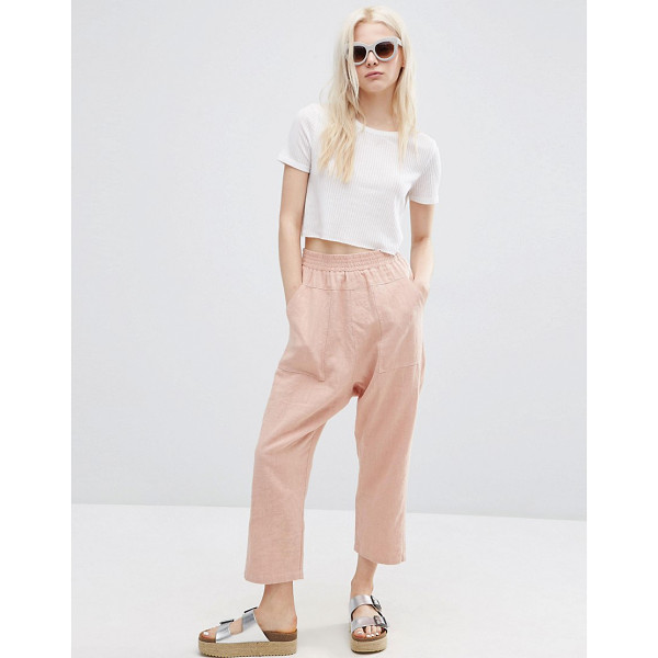 "ASOS Washed Casual Straight Leg Pants - """"Pants by ASOS Collection, Textured lightweight fabric,..."