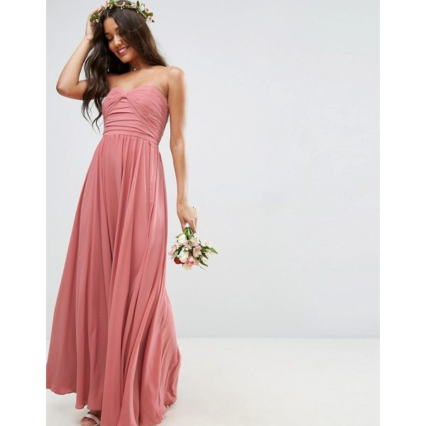 """ASOS WEDDING Bow Front Bandeau Maxi Dress - """"""""Maxi dress by ASOS Collection, Smooth woven fabric, Fully..."""