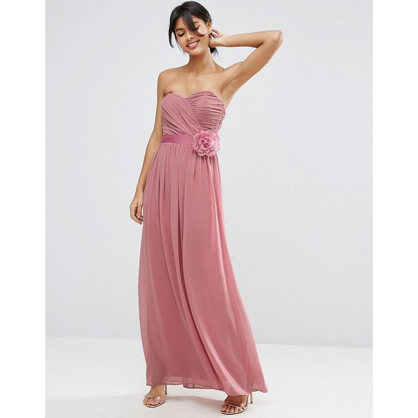 """ASOS WEDDING Chiffon Bandeau Maxi Dress with Detachable Corsage - """"""""Maxi dress by ASOS Collection, Lined chiffon, Sweetheart..."""